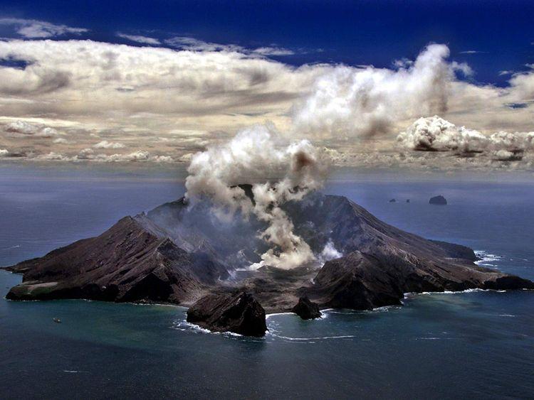 New Zealand's most active volcano, Whakarri (White Island)