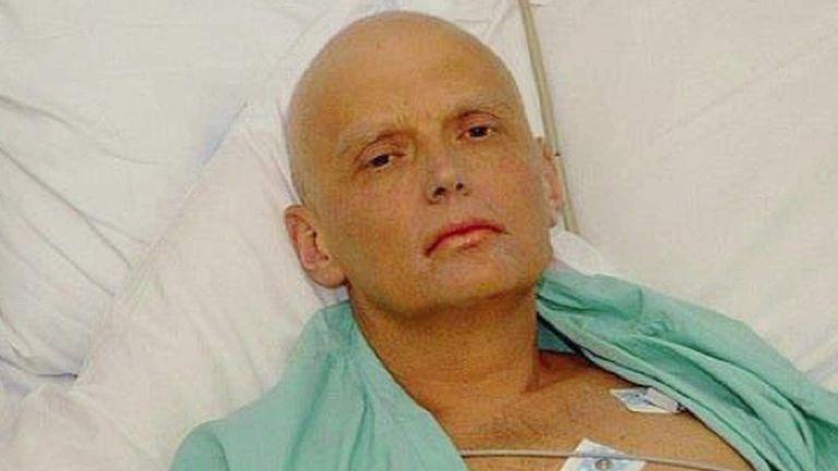 Former KGB agent Alexander Litvinenko on his death bed in hospital SAFE TO USE