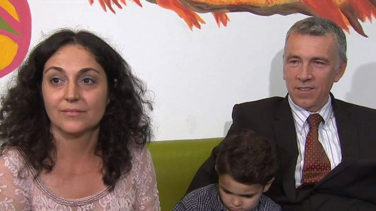 Naghmeh and Brett King, parents of Ashya