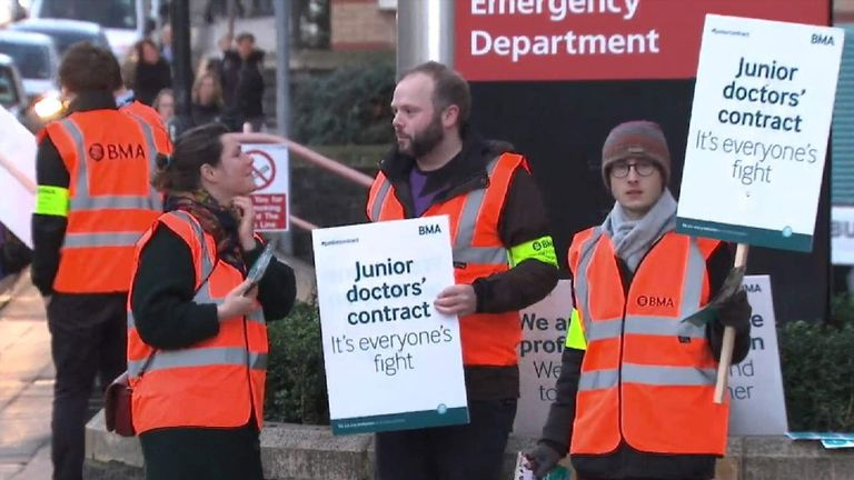 Junior doctor NHS strikes
