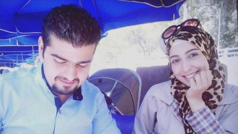 Bassel and his wife before they fled Syria