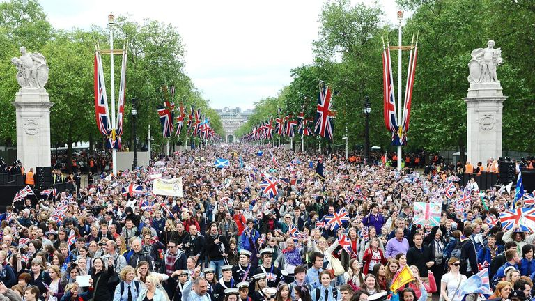 Diamond Jubilee celebrations on The Mall in 2012.
