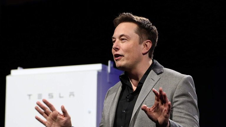 Tesla Boss Elon Musk Shows Off Powerwall