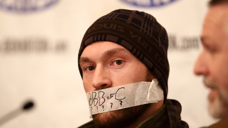 Tyson Fury has had another run-in with the BBBofC
