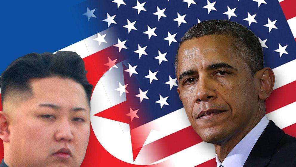 North Korea's leader Kim Jong Un and US President Barack Obama