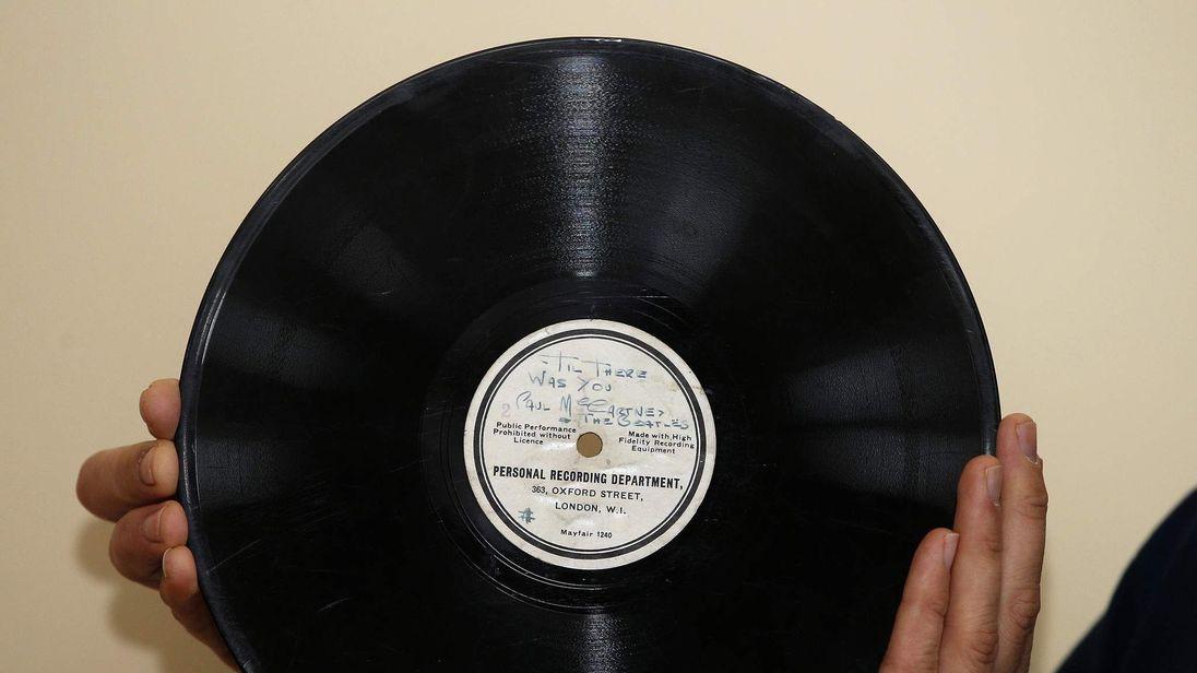 The record that launched the Beatles