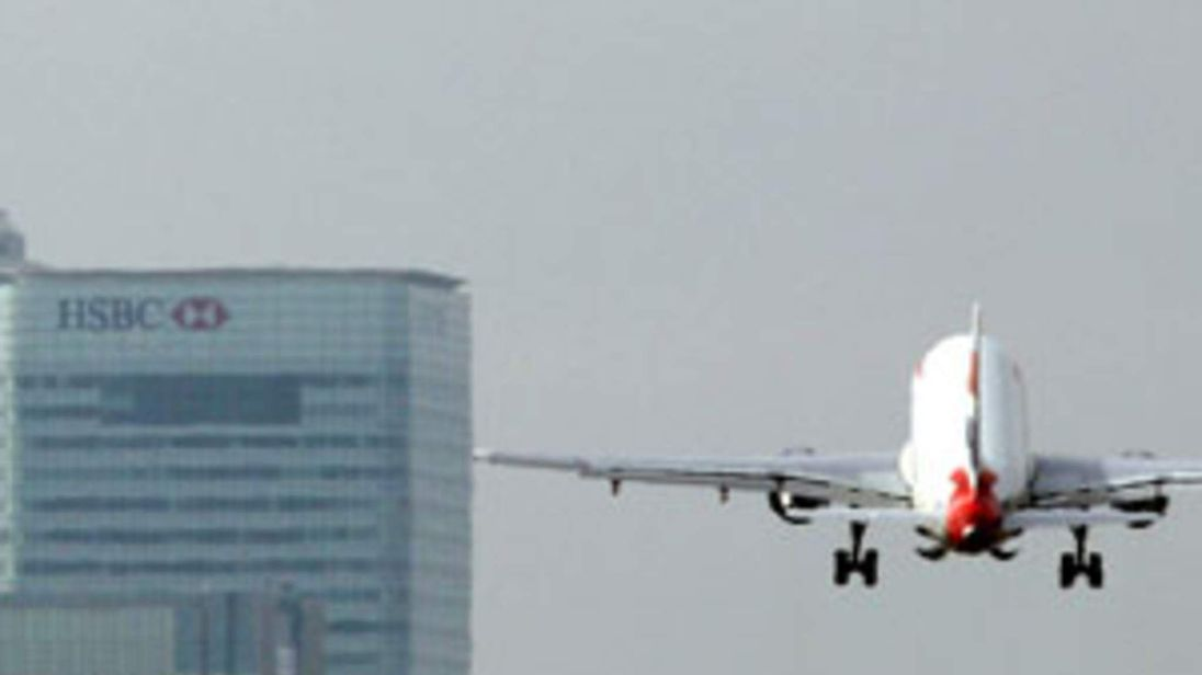 British Airways plane takes off from London City Airport