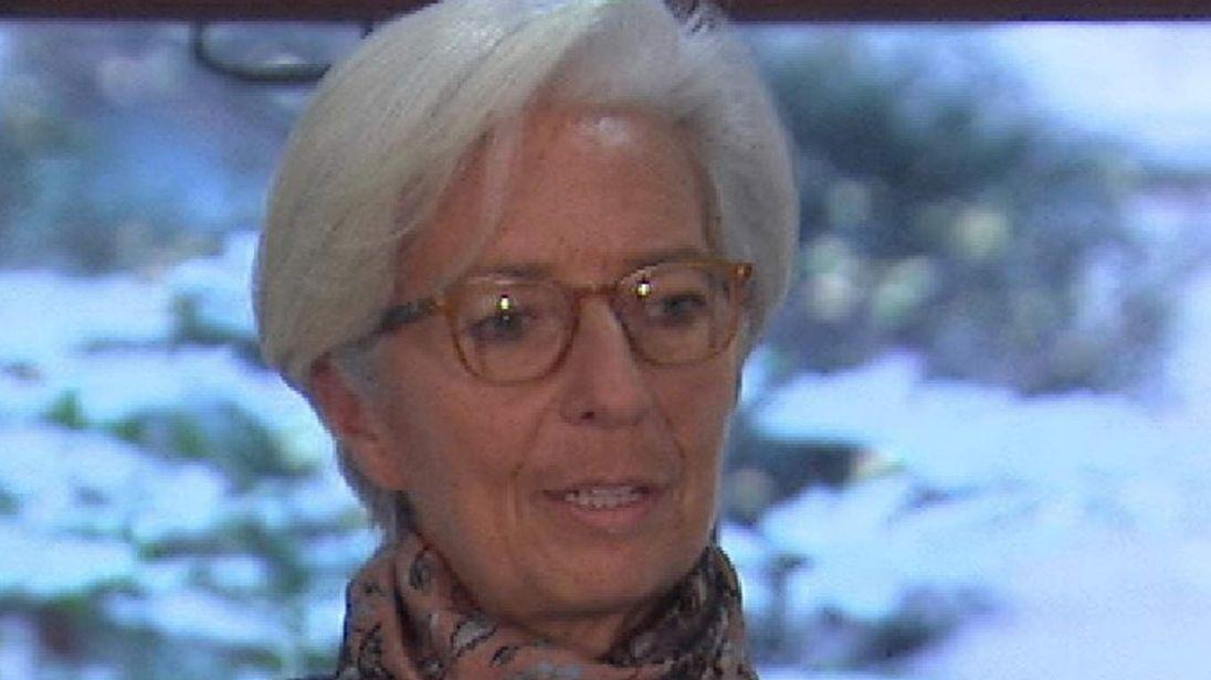 Christine Lagarde delivers IMF UK report