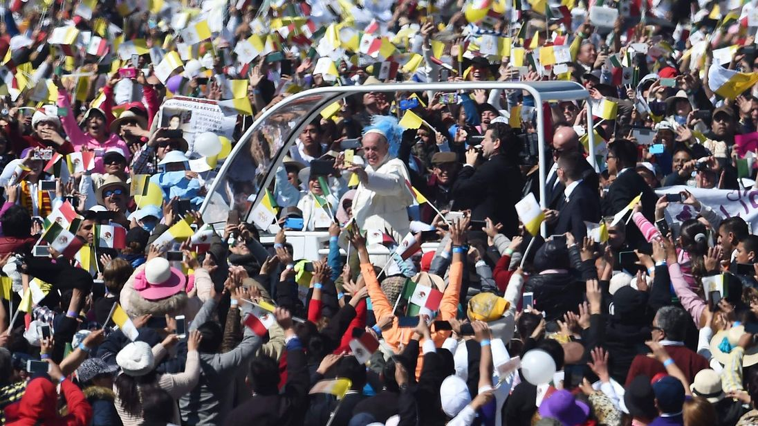 The Pope visits Mexico
