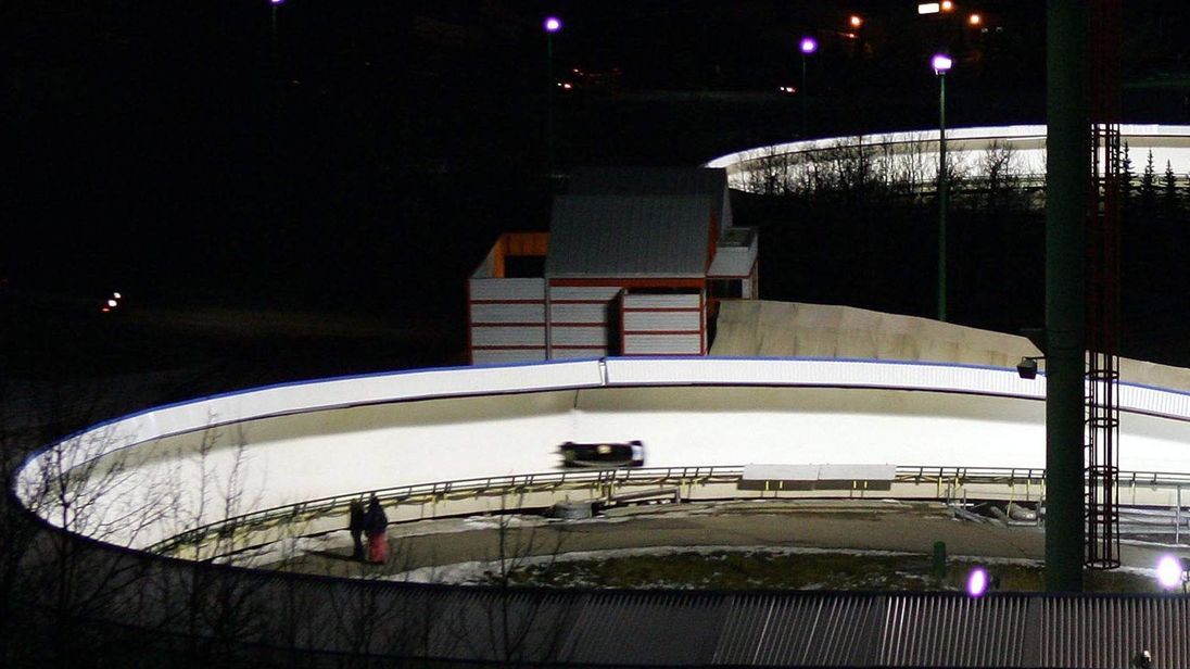 Bobsleigh track at Canada Olympic Park