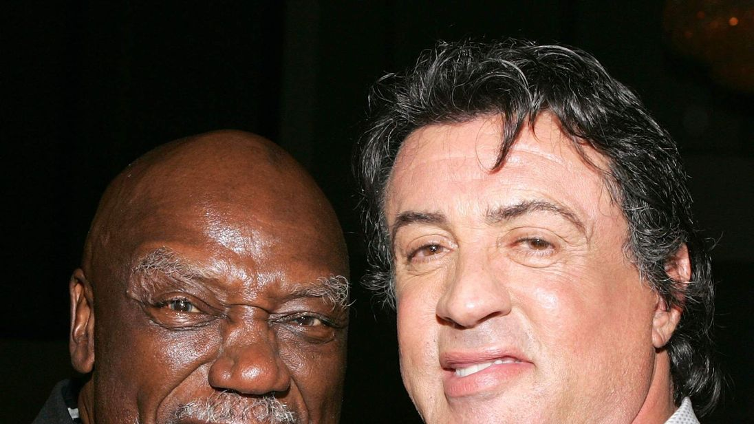 Tony Burton and Sylvester Stallone