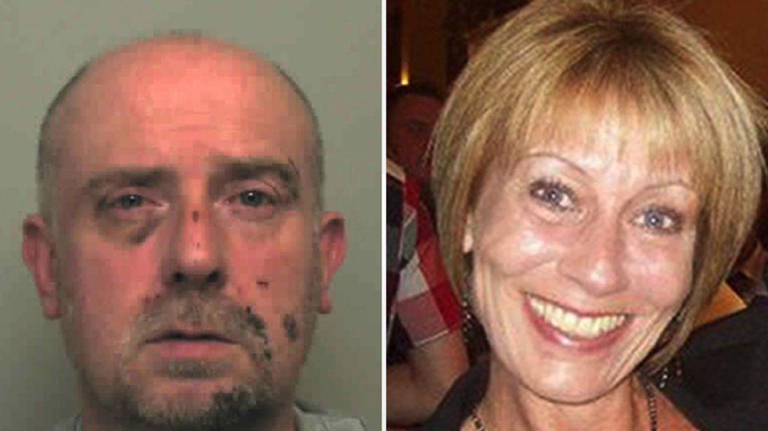 PC Adrian Goldsmith and victim Jill Goldsmith