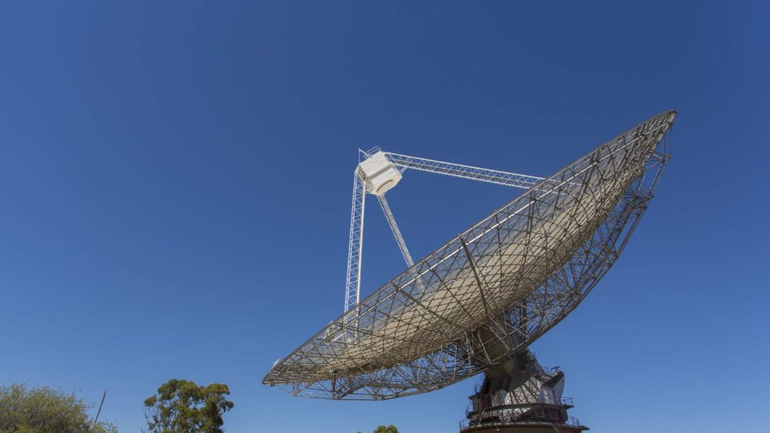 The Parkes Radio Telescope in Australia