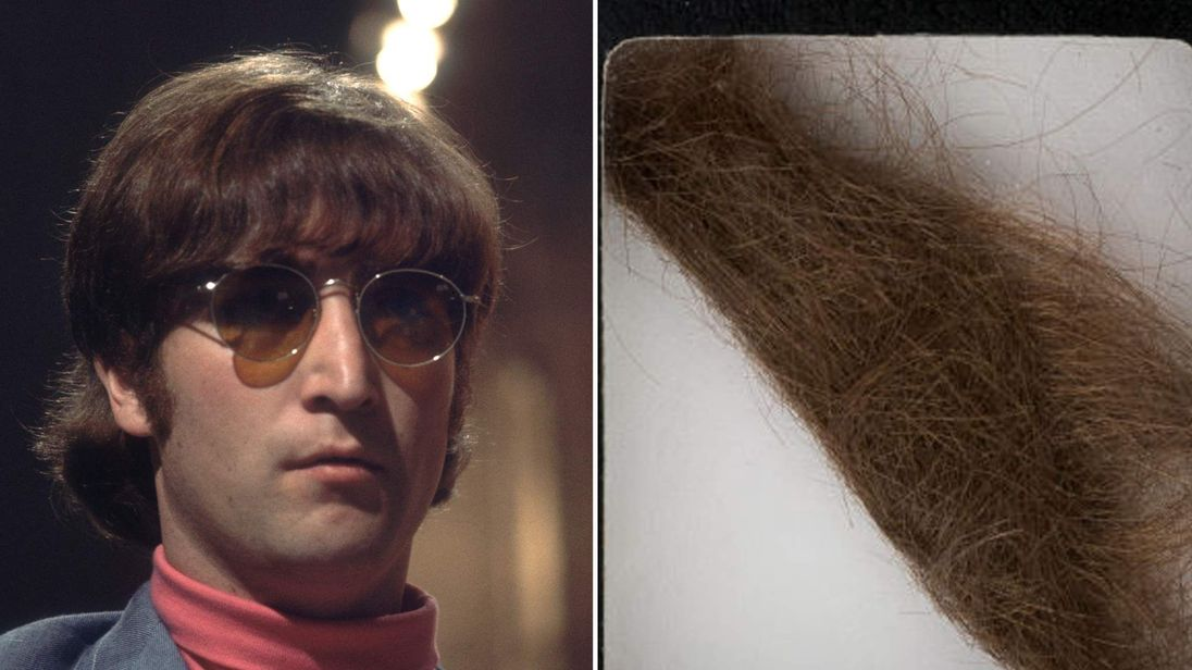 Heritage Auctions said in a news release Monday that the 4-inch lock was collected by a German hairdresser who trimmed Lennon's hair before he started shooting How I Won the War.