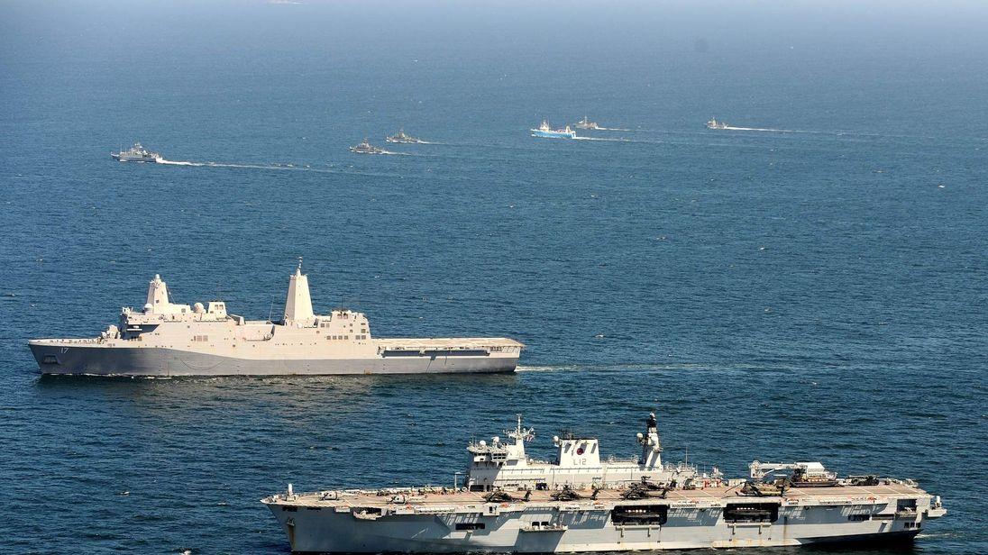 HMS Ocean Baltops