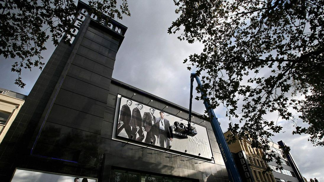 The Odeon cinema in Leicester Square in