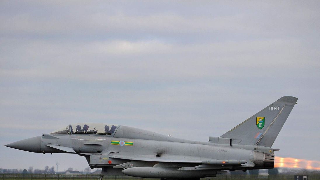 Olympic take-off for RAF jets