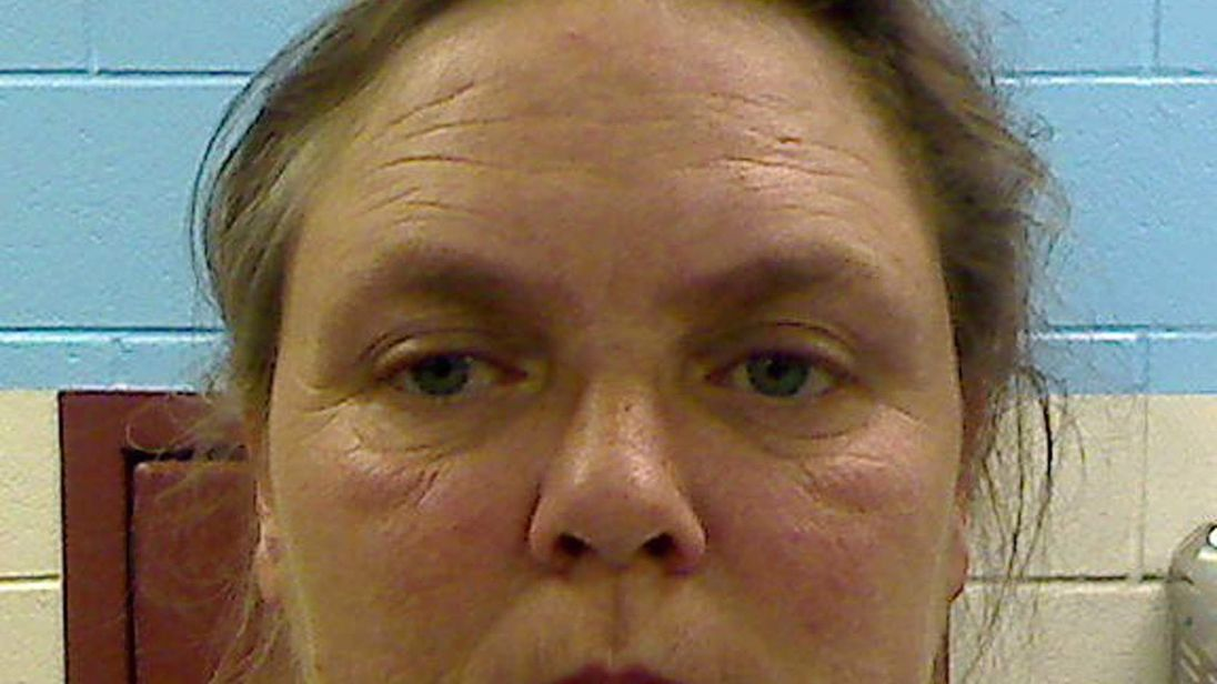 Joyce Hardin Garrard is seen in a booking photo released by the Etowah County Sheriff?s Office