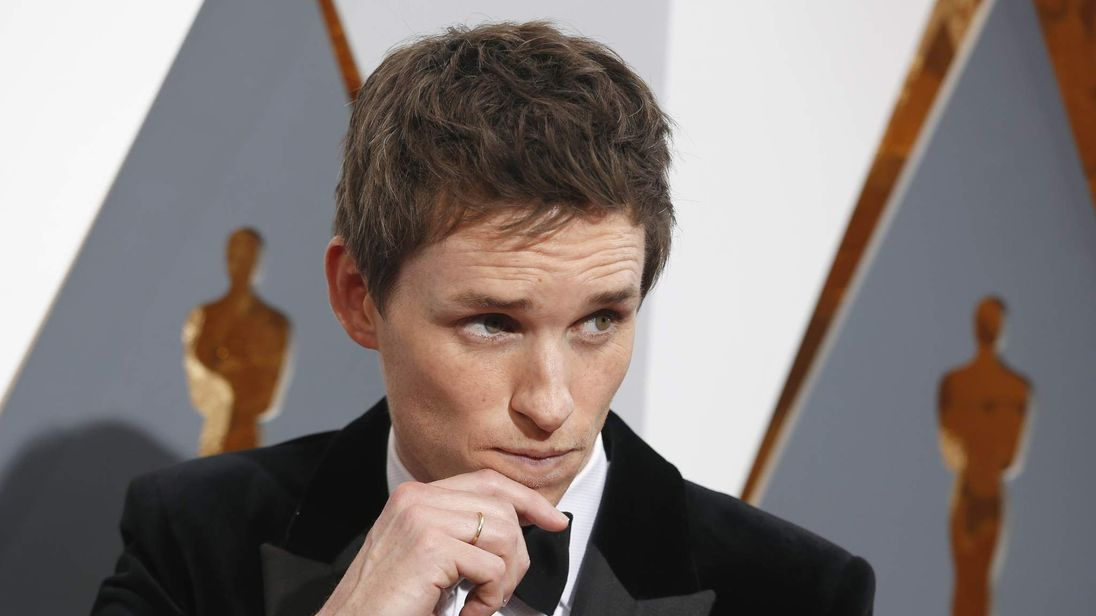 Redmayne arrives at the 88th Academy Awards in Hollywood