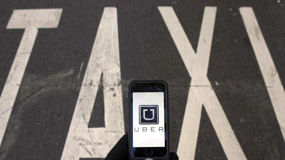 Car-sharing service app Uber