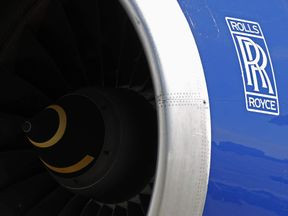 A Rolls-Royce aircraft engine