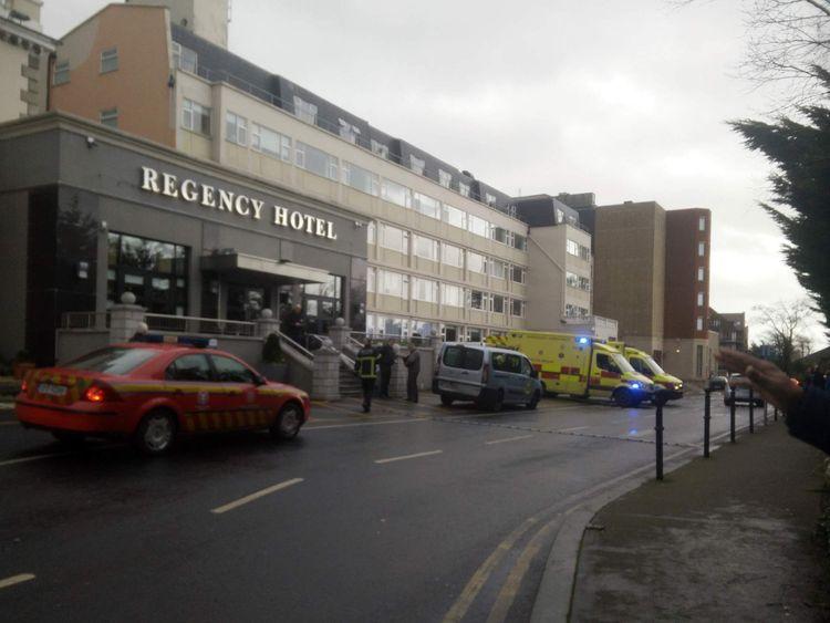 Shooting at Dublin hotel.