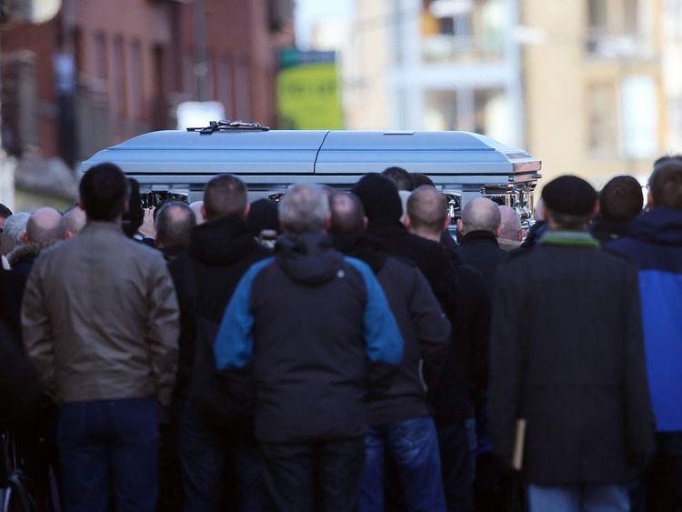 Funeral of David Byrne in Dublin