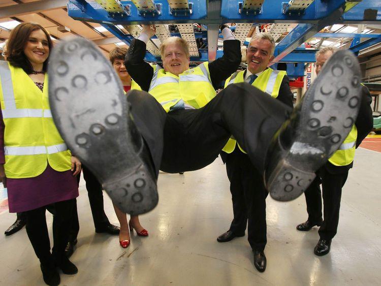 Boris Johnson visit to Northern Ireland
