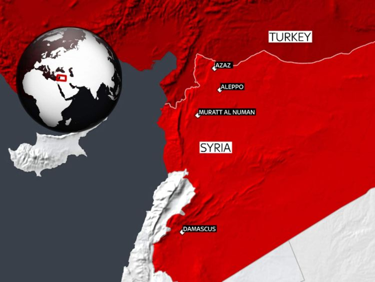 Site of attacks on hospitals in Syria