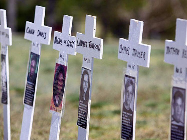 Ten-year anniversary of the Columbine High School shootings in Colorado