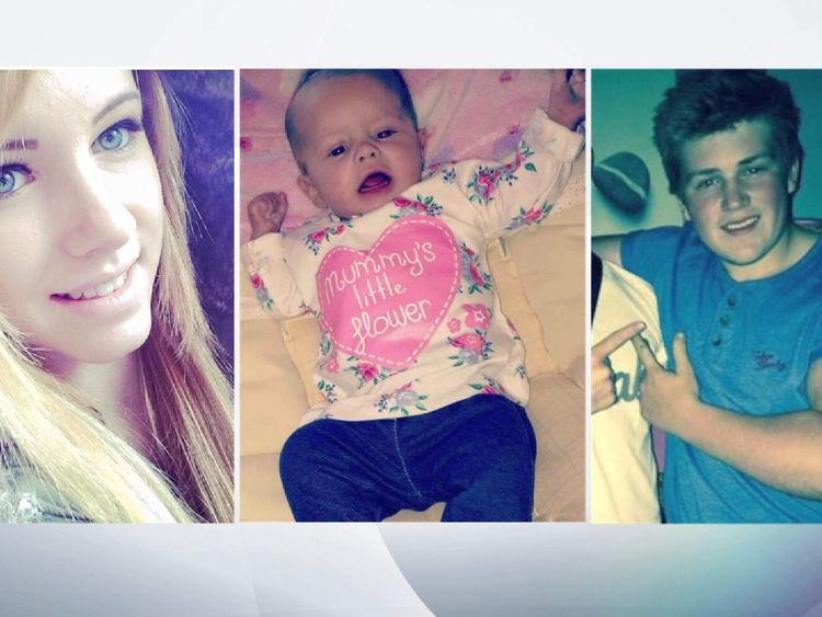 Derbyshire house fire victims Amy Smith, 17, six-month-old Ruby Gaunt, and 17-year-old Edward Green