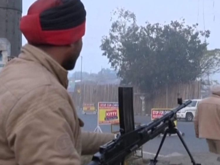 Indian troops at Pathankot air force base after attack by militants