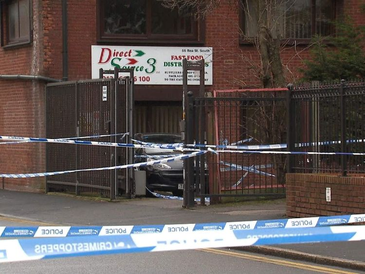 Birmingham warehouse robbery shooting