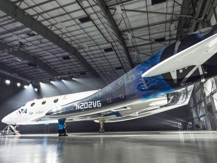 New Virgin Galactic SpaceShipTwo unveiled. Pic Virgin Galactic/PA Wire