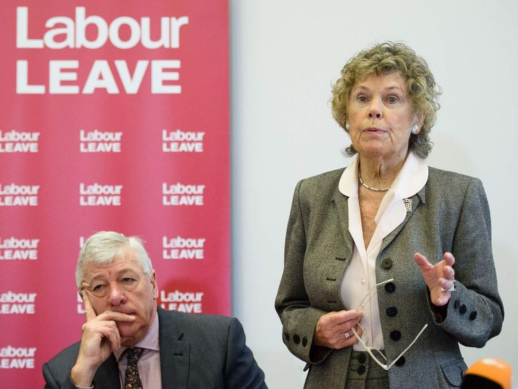 Graham Stringer and Kate Hoey at the launch of Labour Leave