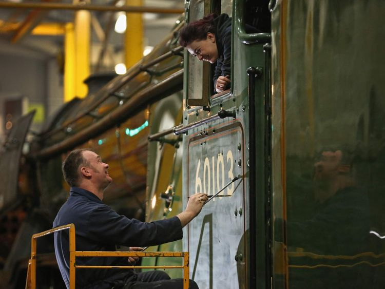 Finishing Touches Are Applied To The Newly-renovated Flying Scotsman