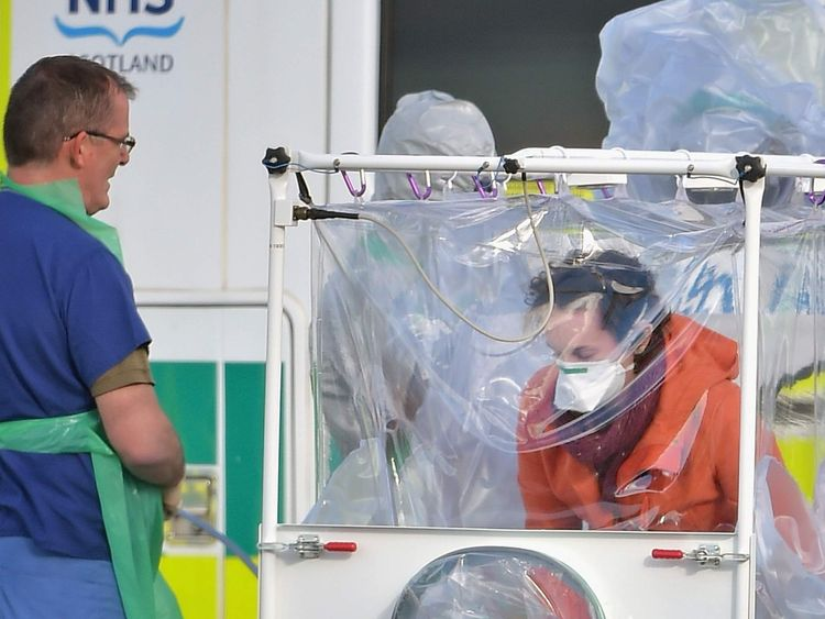 Scottish Ebola Victim Is Transported  To A London Hospital For The Third Time