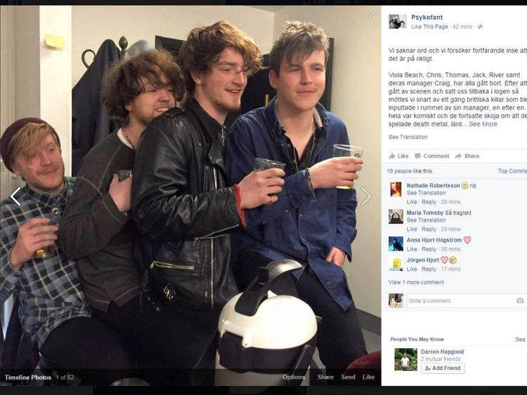 Possibly the last photo taken of Viola Beach