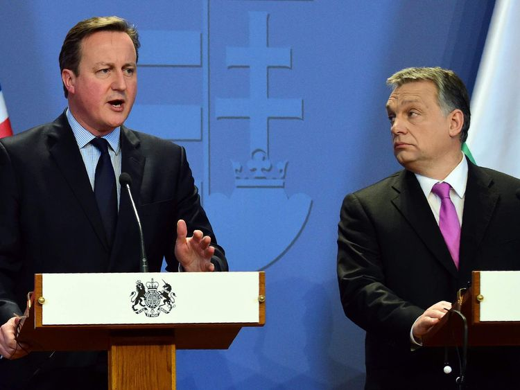 David Cameron and Viktor Orban