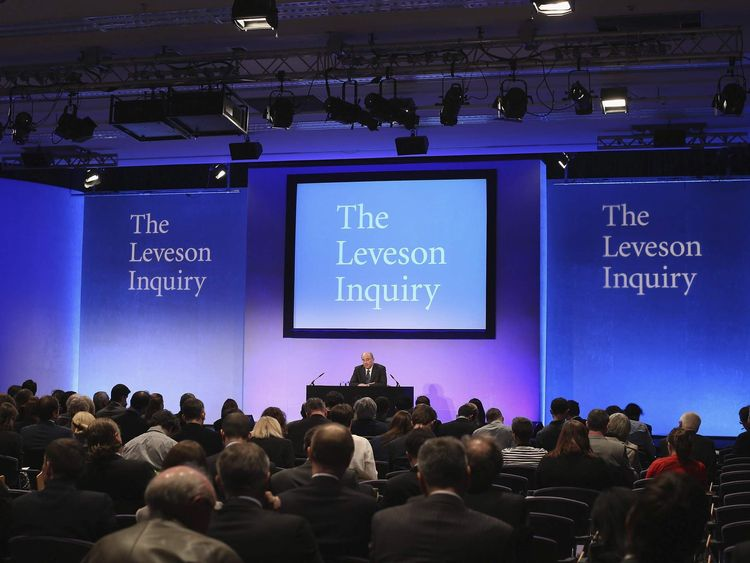 Lord Justice Brian Leveson unveils his report following an inquiry into media practices at the QE2 Centre in central London