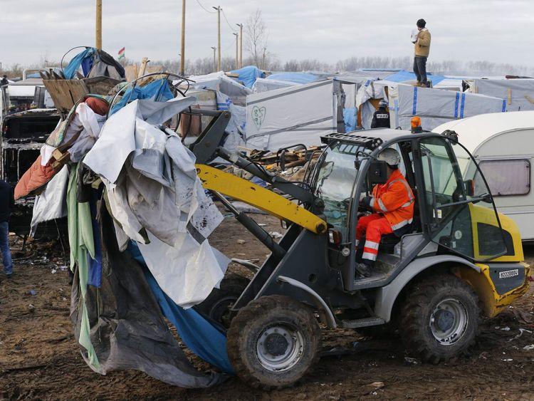 Calais camp evictions