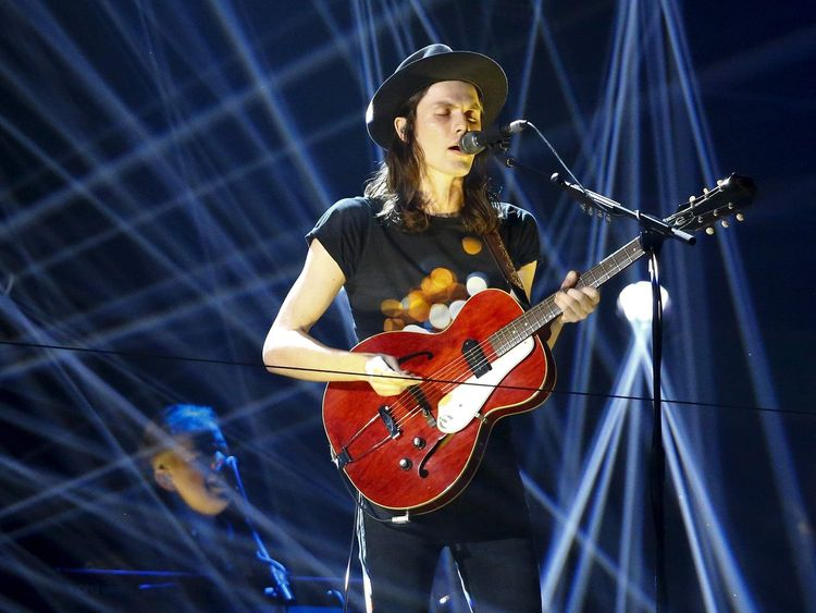 British singer Bay performs during the MTV EMA awards at the Assago forum in Milan