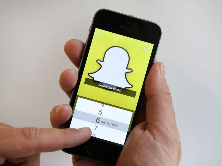 Snapchat app on iPhone