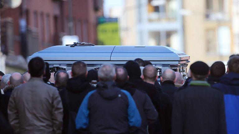 Security Tight For Dublin Feud Funeral | World News | Sky News
