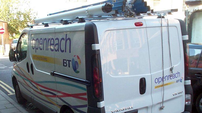 Openreach van, part of the BT Group