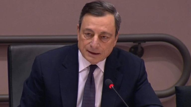 Mario Draghi Gives Evidence To European Parliament
