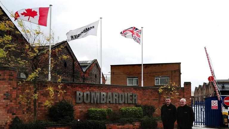 Bombardier main entrance in Derby