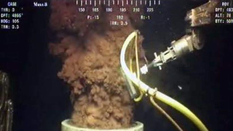 Oil gushed from BP's ruptured well in the Gulf of Mexico