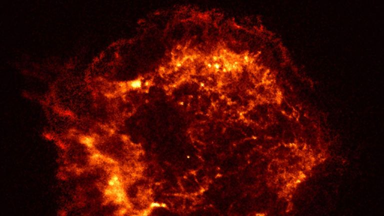 NASA image reveals an outer shock wave from a supernova explosion