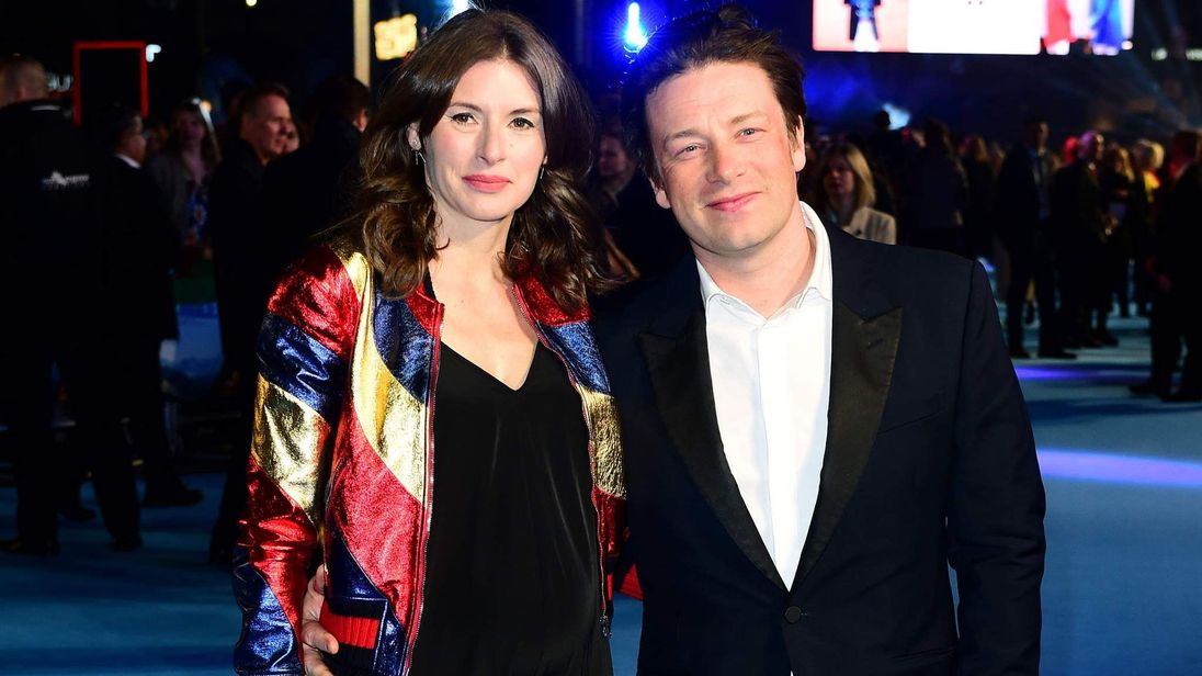 Jools and Jamie Oliver attending the premiere of Eddie The Eagle